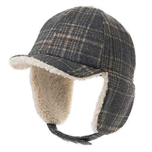 Fur Earflap Corduroy Baseball Cap Women Girl Kid Elmer Fudd Trapper Hats Winter 53-60CM