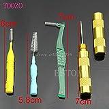 AMZVASO - Airbrush Spray Gun Nozzle Cleaning Repair Tool Kit Needle&Brush Set