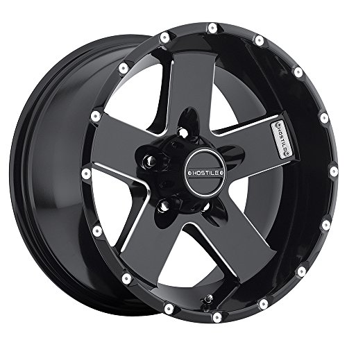 Hostile Moab Satin Black Wheel with Milled Finish (17x9/5x127mm) (Moab Wheels)
