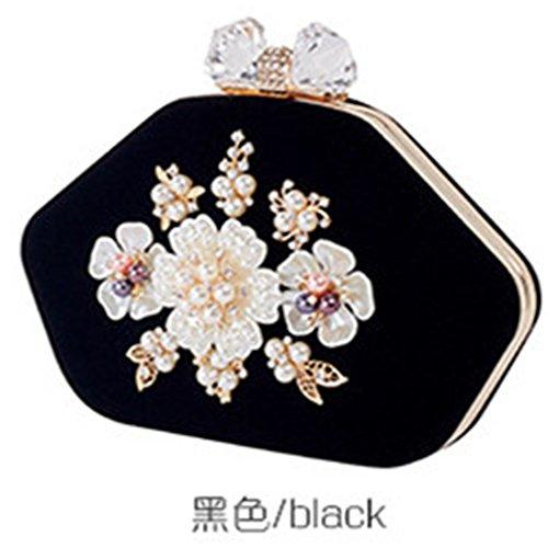 Wedding Handbag Clutch Bag Party black Diamond Women Purse Bag Bag Evening Cheersame Women 1q54Yx