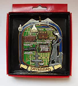 Amazon Com Savannah Georgia Christmas Ornament City