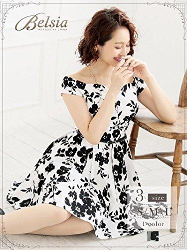 ただやるアジア簡単な(リューユ) Ryuyu キャバドレス キャバ ドレス キャバクラ キャバワンピース パーティードレス Belsia 花柄 フレアー モノトーン オフショル *503075