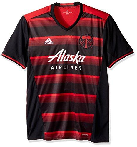 MLS Portland Timbers Adult Men Replica Wordmark s/jersey,Medium,Red