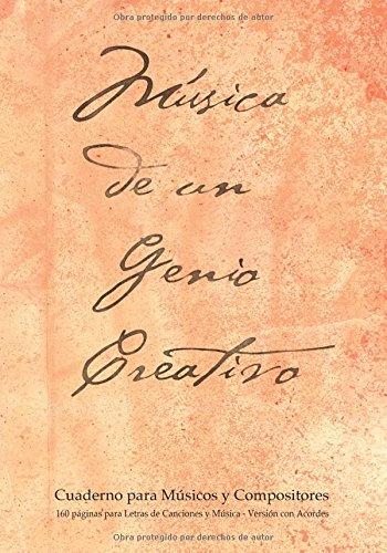 Descargar Libro Cuaderno Para Músicos Y Compositores De 160 Páginas Para Letras De Canciones Y Música. Versión Con Acordes: Cuaderno De 17.78 X 25.4 Cm Con Tapa ... Pentagramas, Acordes Y Tablas De Acordes. Spicy Journals Es