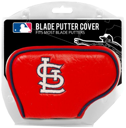 Team Golf MLB St Louis Cardinals Golf Club Blade Putter Headcover, Fits Most Blade Putters, Scotty Cameron, Taylormade, Odyssey, Titleist, Ping, Callaway