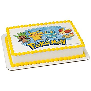 14 Sheet Pokemon Edible CakeCupcake Party Topper Amazon