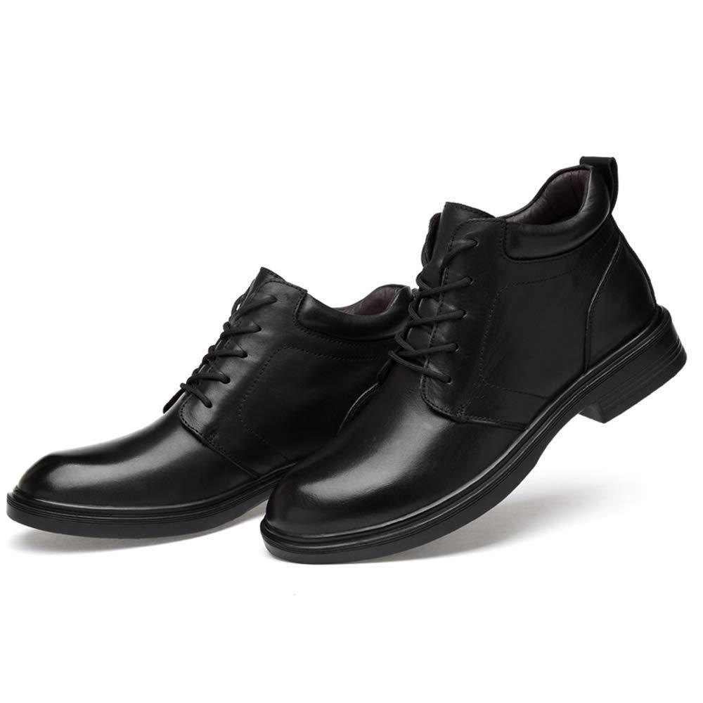 Ruiyue Mode-Business-Stiefel, lässige Winter runde runde runde Zehe Fleece Inside High Top Stiefel (konventionell optional) für Männer (Farbe   Schwarz, Größe   47 EU) ba322b