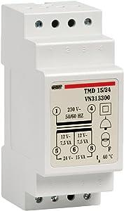 vemer vn313300Transformador vn321600TMD 15/24de DIN para Service desequilibrio en 230V/12â24V Potencia 15VA, color gris claro