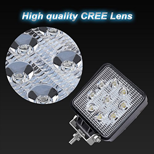 Liteway 4u0026quot; 2x36W Square Flood LED Light Bar CREE LED Pods LED Work Light Waterproof Jeep Off Road Driving Fog Lights for Truck Car ATV SUV Jeep Boat ... & Liteway 4u0026quot; 2x36W Square Flood LED Light Bar CREE LED Pods LED ...