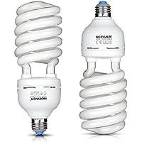 Neewer® 45W 110V 5500K Tri-phosphor Spiral CFL Daylight Balanced Light Bulb in E27 Socket for Photo and Video Studio Lighting(2 Pack)