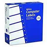 """Avery Continuous Form Computer Labels for Pin-Fed Printers 3-1/2"""" x 15/16"""", Box of 15,000 (4031)"""
