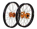 ProTrax Complete Wheel Rim Set Orange Hub Front&Rear 21''&18'' KTM 250SXS 300EXC