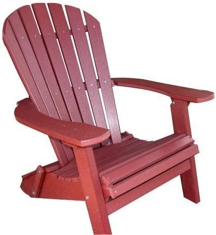Phat Tommy Recycled Poly Resin Folding Deluxe Adirondack Chair Durable and Eco-Friendly Armchair. This Patio Furniture is Great for Your Lawn, Garden, Swimming Pool, Deck.