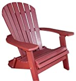 Cheap Phat Tommy Recycled Poly Resin Folding Deluxe Adirondack Chair – Durable and Patio Furniture, Dark Red