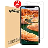 iPhone X Screen Protector, Automoness iPhone X 10 Tempered Glass Screen Protector for Apple iPhone X, iPhone 10, HD Clear 5.8Inch [Case Friendly] (2-Pack)