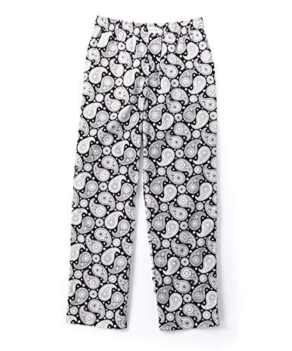 Happy Socks Men's 100% Cotton Woven Pajama Sleep Lounge Pants (Grey/White, Small)