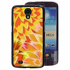 A-type Arte & diseño plástico duro Fundas Cover Cubre Hard Case Cover para Samsung Galaxy Mega 6.3 (Sun Yellow Orange Pattern)