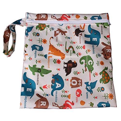 Primi 'Wondrous Wall Art bebé impermeable Zipper Bolsa lavable reutilizable gamuza de bebé bolsa de pañales