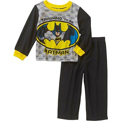 Toddler Fleece Bat Costumes (DC Comics Batman 2 Piece Fleece Baby / Toddler Little Boys Pajama Set (18 Months))