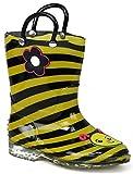 kids bee rain boots - Chatties Little Girls' Fun Print Rain Boot (9-10 M US Toddler, Yellow Bee)