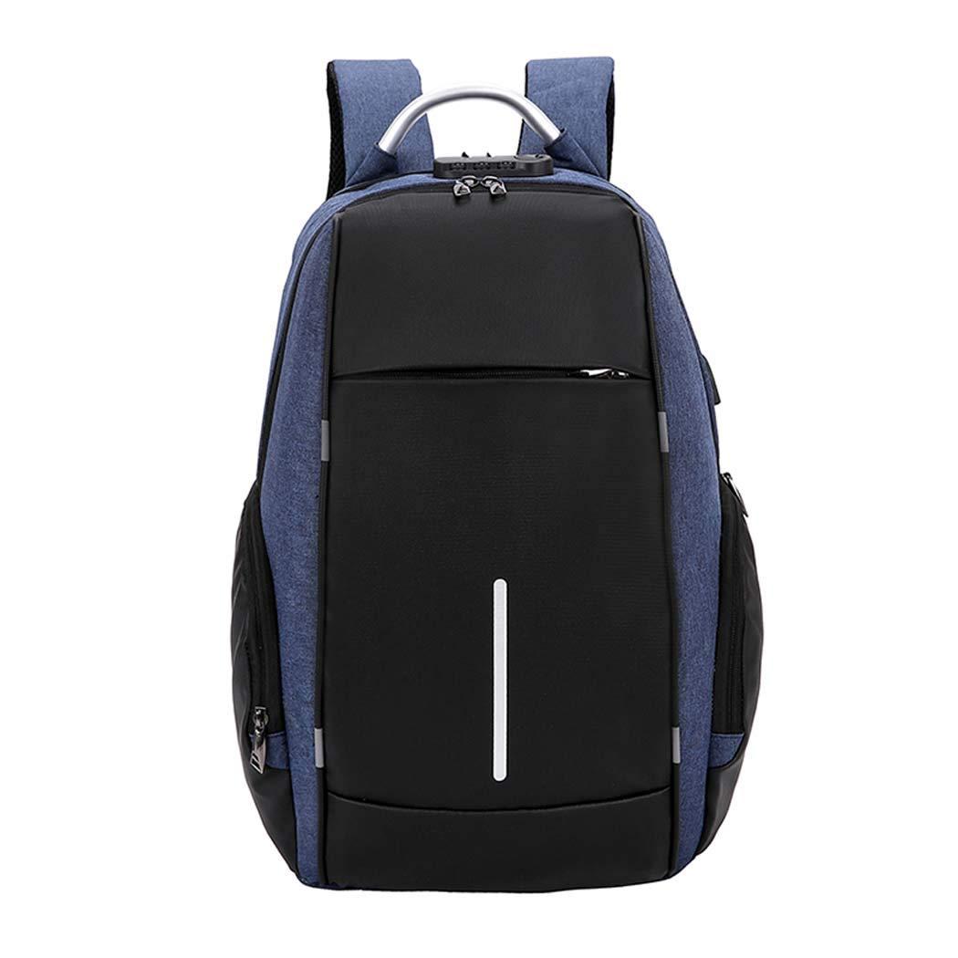DUXX トラベル 盗難防止 バックパック 充電 メンズ バックパック ビジネス コンピューター バックパック スクールバックパック  ブルー B07H9WTNZW