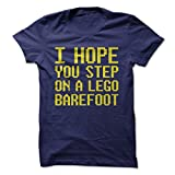 Best LEGO Friend And Sisters - I Hope You Step on a Lego Barefoot-T-Shirt/Navy Review