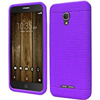 HR Wireless Rugged Silicone - Dark Purple - Alcatel Fierce 4 Allura Pop 4 Plus