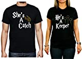 Couples Harry Potter Catch-Keeper Black T-Shirts