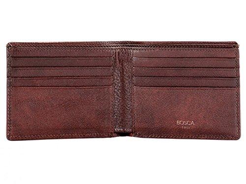 Bosca Mens 8 Pocket - Bosca Men's Washed Collection 8 Pocket Deluxe Executive Wallet (Dark Brown)