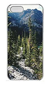 iPhone 5 5S Case landscapes nature mountain trees 10 PC Custom iPhone 5 5S Case Cover Transparent