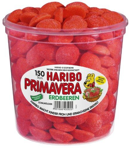 Haribo Primavera Erdbeeren ( Haribo Primavera Strawberries ) , 1 Pack (1 x 1,05 kg Dose)