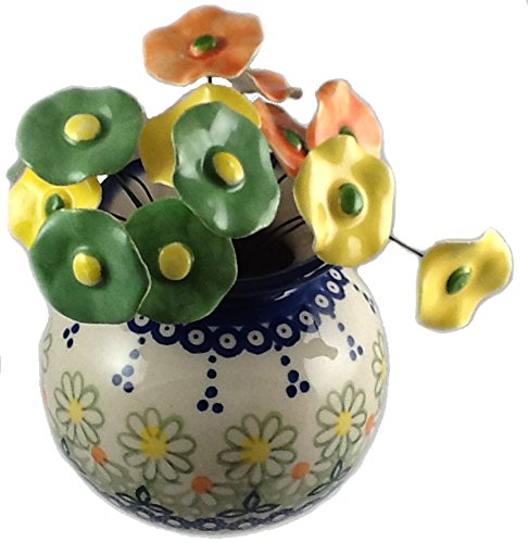 short-round-flower-vase-in-the-unikat-polish-pottery-pattern-reos-or-maizie-plus-15-coordinating-cer