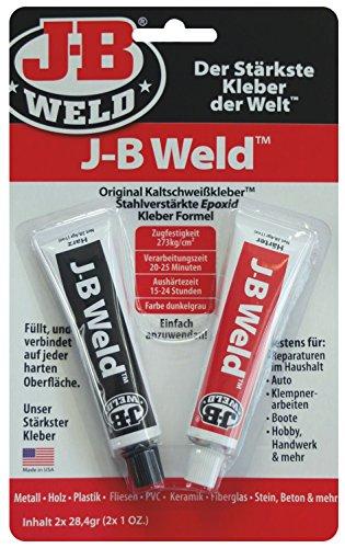 JB Weld Das Original, stahlverstärkter 2-Komponenten Epoxid-Kleber, universell einsetzbar, 8265-DEU