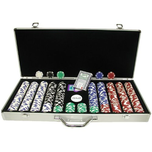 (Trademark 650 Pc Royal Suited 11.5 Gram Chips with Aluminum Case Poker Chip Set Silver)
