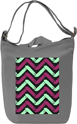 Colourful Pattern Borsa Giornaliera Canvas Canvas Day Bag| 100% Premium Cotton Canvas| DTG Printing|