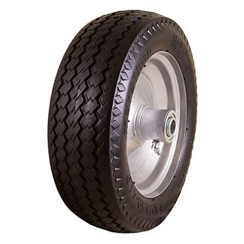 marathon-410-350-4-flat-free-hand-truck-tire-on-wheel-225-offset-hub-5-8-ball-bearings-sawtooth-trea