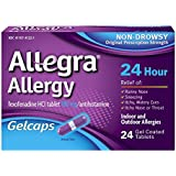 Allegra 24 Hour Indoor and Outdoor Allergy Relief Gelcaps for Adults - 24 Gelcaps