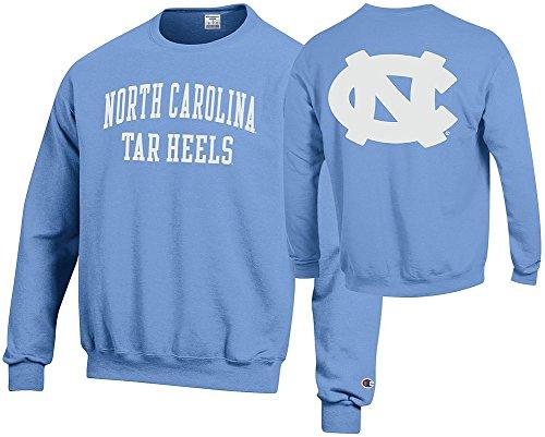 Elite Fan Shop North Carolina Tar Heels Crewneck Sweatshirt Back Light Blue - M ()
