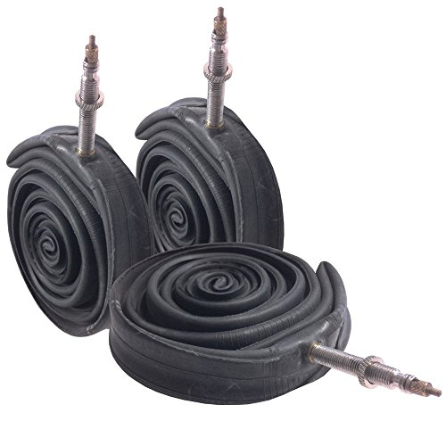 3 x VeloChampion Butyl Road Bike Inner Tubes - 700x18/25C Presta 60mm Valve Length