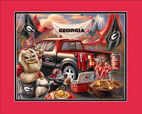 Dog Charming Print (Prints Charming College Tailgate Georgia Bulldogs Unframed Poster 14x11 Inches)