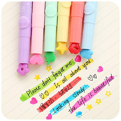 Go Cart Go 36 pcs/Lot Cute Stamp Highlighter Marker Pen for Reading DIY Scrapbooking Stationery Material escolar by Go Cart Go (Image #3)