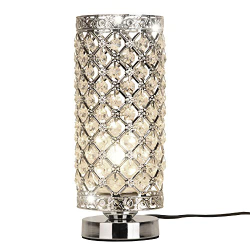 Bedroom Decorative Desk Lamps - Crystal Silver Table Lamp