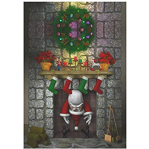 Cute Santa Claus New Year Garden Flag Outdoor Banner 12 x 18