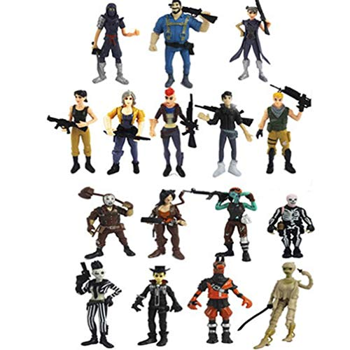 KPST VIP 16pcs/Set 3.5 inch Fortnight Figurines Action Figure Toys Game Characters PVC Model of Game