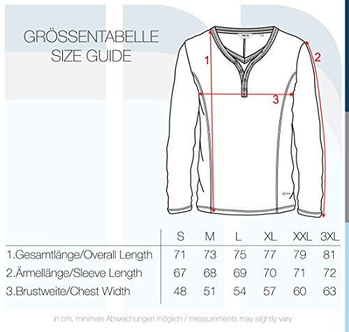 Grey À Dark Tunisien Longues Manches Doriano 8288 Homme Melange T shirt solid wxqzCgAn