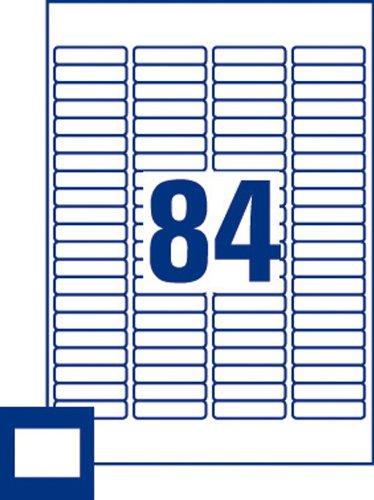 Avery España L7656-15 - Pack de 1260 mini etiquetas blancas para impresoras láser, 46 x 11.1 mm: Amazon.es: Oficina y papelería