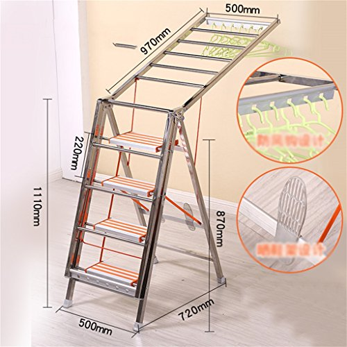 Ladders drying racks double-use thick multi-functional stain