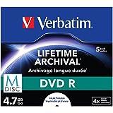 Verbatim 43821 DVD R M-DISC 4.7GB 4X Printable - Confezione da 5