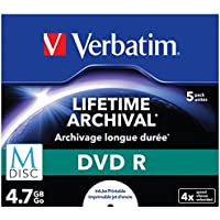 DVD-R M-disc 4x5 Pack inkjet printable