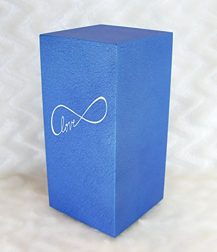 PERSONALIZED Custom Engraved Infinite Love Cremation Urn Vault by Amaranthine Urns, made in the USA, Eaton DL (up to 200 lbs living weight) (Celestial Blue) by Amaranthine Urn Company